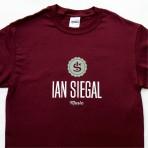 Ian Siegal T-shirt, maroon